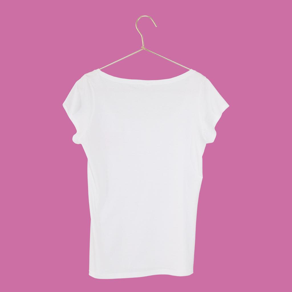 T-Shirt Lotusblume Handwritten Damen hinten SEAN & LINA
