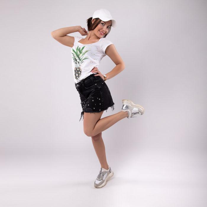 Ananas T-Shirt SEAN & LINA Onlineshop Model Cap