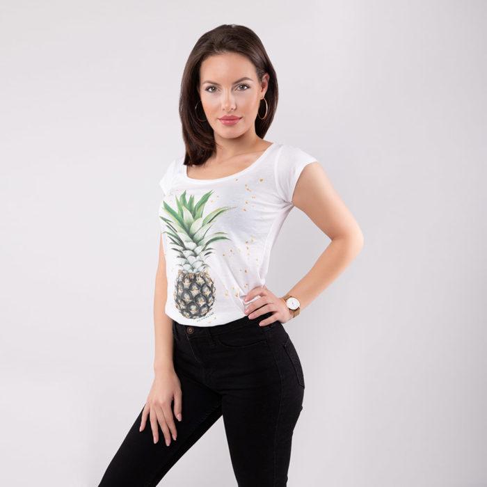 T-Shirt Ananas SEAN & LINA Side