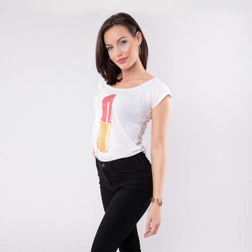 Lippenstift T-Shirt SEAN & LINA Lipstick Side