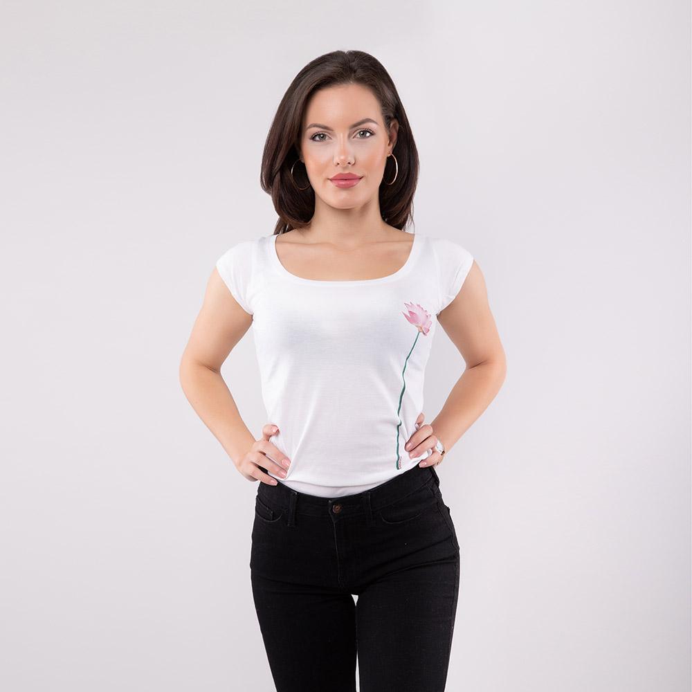 Lotus Blume T-Shirt SEAN & LINA Lipstick Side