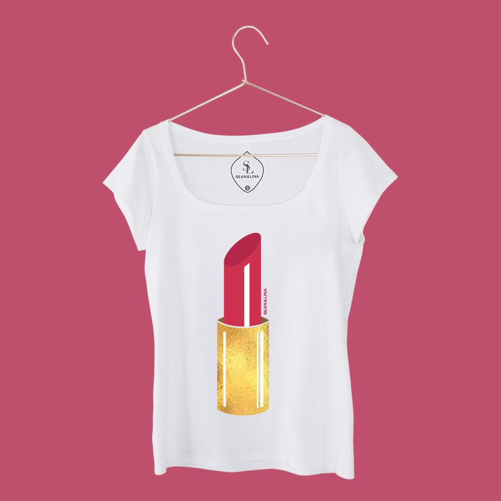 T-Shirt Lippenstift Damen vorne SEAN & LINA