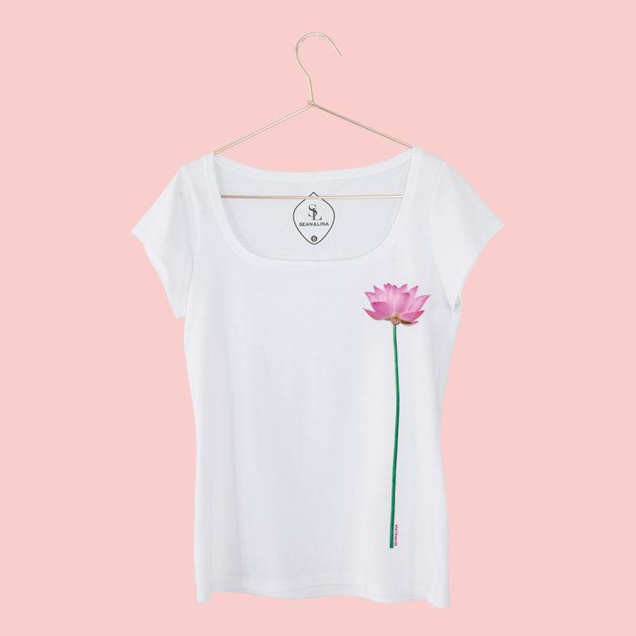 T-Shirt Lotusblume Damen vorne SEAN & LINA