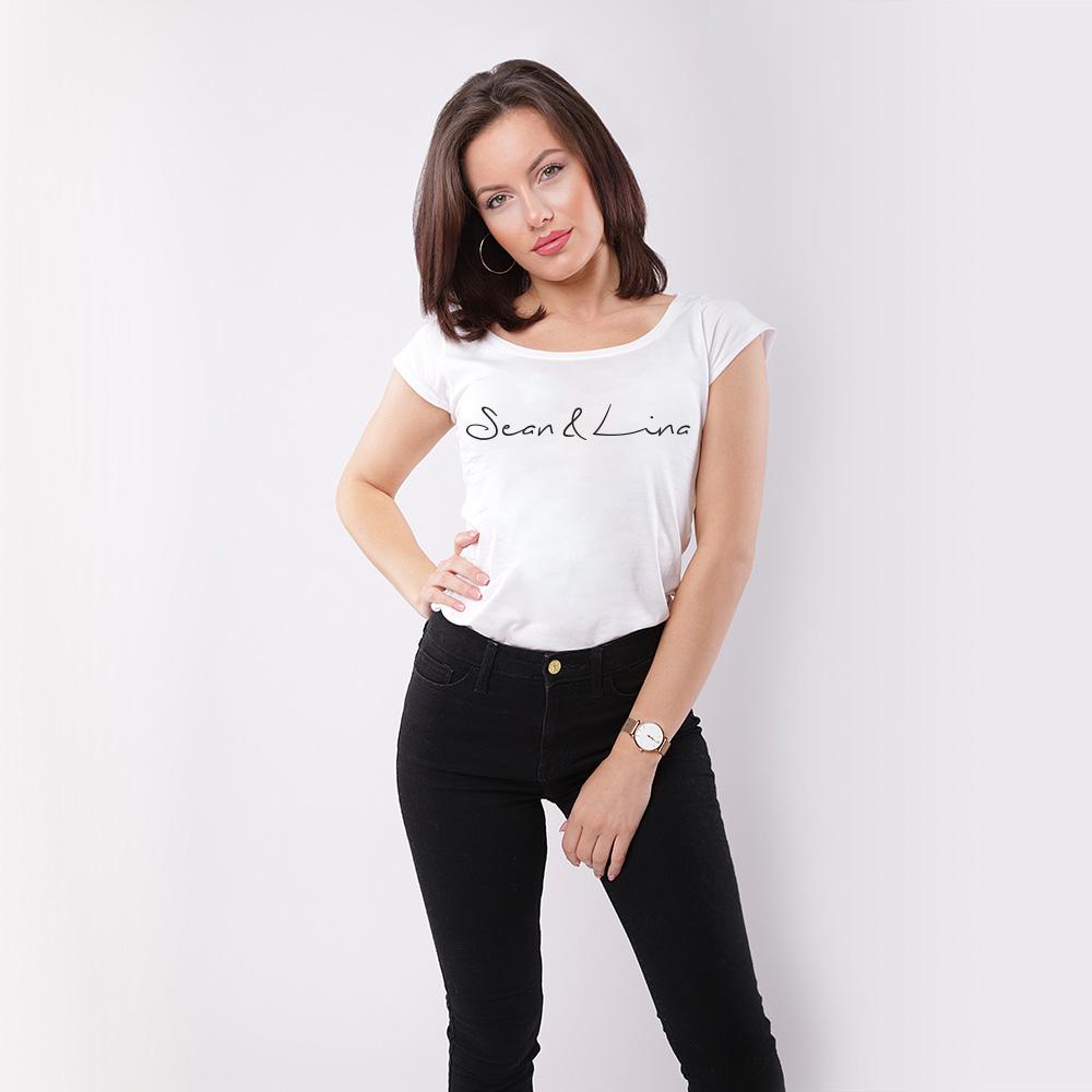 Handwritten Logo T-Shirt SEAN & LINA Front
